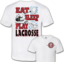 Lacrosse Eat Sleep Play T-Shirt Jersey Short Sleeve New Adult and Youth Sizes