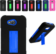 2Layer Armor Case Cover w/2Way Stand For AT&T Kyocera Hydro Air C6745 Phone