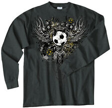 Soccer Wings T-Shirt Jersey Long Sleeve or Short Sleeve Tee New Youth and Adult