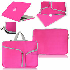 For Macbook Pro 13 Air 11 Retina 15 Rubberized Case Cover +Sleeve Carry Bag Rose