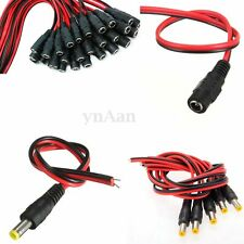 Female Male DC Power Jack Plug Adapter Connector Cable for CCTV Camera 5.5x2.1mm