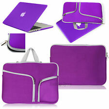 For Macbook Pro 13 Air 11 Retina 15 Rubberized Case Cover +Sleeve Carry Bag PU