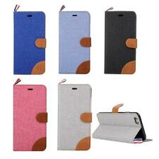 Wallet Jeans Flip Leather Case Stand Case Cover Skin For I Phone 6 plus 5.5 Inch