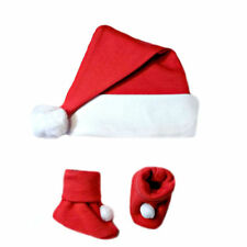 Unisex Baby Red Santa Hat and Booties - 6 Preemie, Newborn up to 12 Months Sizes