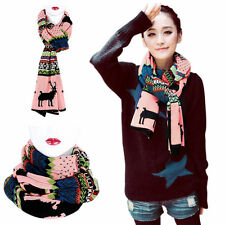 New Womem Winter Thick Christmas Deer Cute Soft Long Scarf Wrap Fashion Shawl