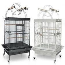 Large Parrot Bird Flight Finch Cage Macaws Pet Supply Aviary House w/ Free Toy