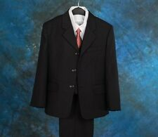 Pinstripe 5 Pcs Set Boy Formal Suit Outfit Wedding Pageboy Size 3 4 5 6 7 ST010