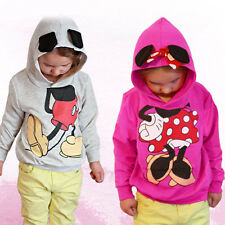 Girls Boys Kids Baby 3D Mickey Minnie Mouse Hoodie Hooded Sweatshirt T-shirt Top