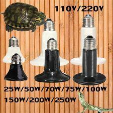 25-250W Infrared Ceramic Emitter Heat Lamp for Reptile Pet Brooder Light Bulb