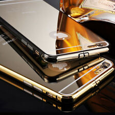 Luxury Aluminum Ultra-thin Mirror Metal Acrylic Back Case Cover for iPhone 6 6S