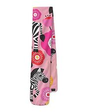 Zebra Blossoms Pink Fleece Scarf - Two Sizes - Warm for Winter