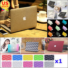 """2in1 Silk Leather/ Marble/ Quicksand Hard Case Cover for MacBook Air Pro 11"""" 13"""""""