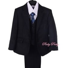 5 pcs Set Formal Suit Tuxedo Wedding Occasion Dinner Pageboy Size 1y-6y ST037A