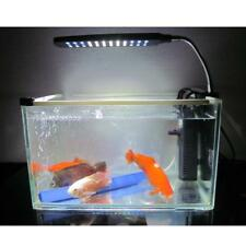 AU/UK Plug Flexible Aquarium Fish Tank LED Clip Light Lighting Lamp 3or 4 Modes