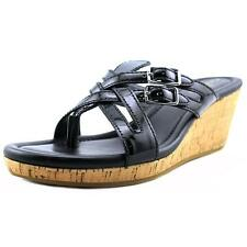 Cole Haan Corby Thong.II Women  Open Toe Patent Leather Black Thong Sandal