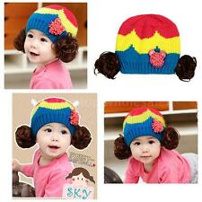 Cute Baby Boy Girl Toddler Infant Children Hat Cap Beanie Ski Cap Unisex L6NZ