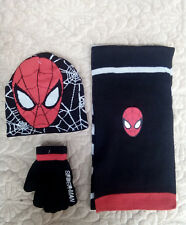 Lot Spider-man knit hat children winter knitted scarf gloves hat set M-44