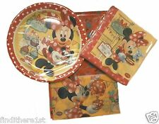 Minnie Mouse Birthday Party Bags Tableware Plates Napkins Balloons Banner Pink