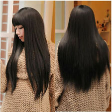 Hot Womens Girls Cosplay Party Long Straight Hair Wigs Full Wigs Synthetic Hair