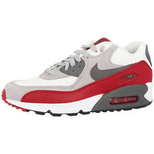 NIKE AIR MAX 90 GS SHOES GREY RED TRAINERS 705499-003 LTD BW CLASSIC SKYLINE