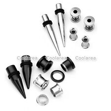3 Pair Steel 6G-00G Ear Tapers Ear Gauges Flesh Tunnels Plugs Expander Stretcher