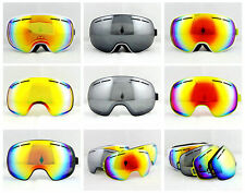 Brand Adults Dual Lens Anti-Fog Snowboard Ski Winter Sports Goggles+ Spare Lens