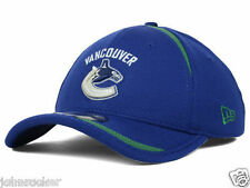 VANCOUVER CANUCKS NHL NEW ERA 39THIRTY LINED OVER BLUE FLEX HAT/CAP NWT