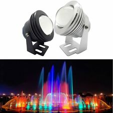 Super Bright 10W Car Fountain Pool Pond Underwater Spotlight 12V RGB LED Light