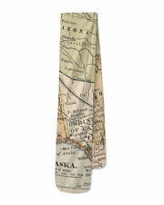 Vintage South West USA Map Fleece Scarf - Warm for Winter Faux Fur