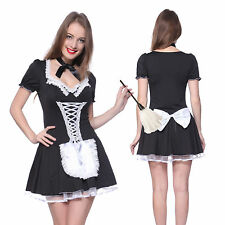 Sexy Ladies French Maid Waitress Rocky Horror Fancy Dress costume Naughty Outfit