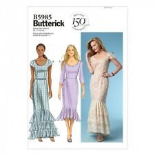 Butterick Ladies Easy Sewing Pattern 5985 Evening Dresses with Frills (Butter...