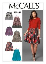 McCalls Ladies Easy Sewing Pattern 7253 Skirts in 6 Variations (McCalls-7253-M)