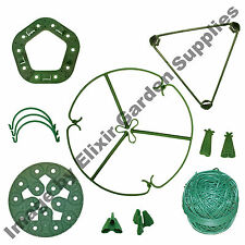 Plant Support Ring Cane Connector Clip Wigwam Triangle Soft Tie Tube Pyramid Cap