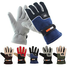 Mens Windproof Motorcycle Racing Winter Bicycle Warm Full Finger Ski Snow Gloves