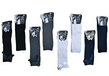 6 Pairs GIRLS SCHOOL KNEE HIGH SOCKS PLAIN OR WITH BOW GREY WHITE BLACK NAVY
