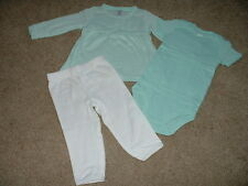 Carters Baby Girls Clothes Sherbet Sky Outfit Set Size Newborn 3 6 12 months NEW