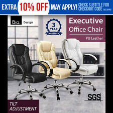 New Bio Executive Office Chair PU Leather Black/White/Beige Computer Desk Work