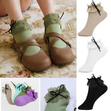 Charm Sweet Lace Socks Women Princess Vintage Girl Ruffle Frilly Ankle Socks