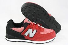 NEW Boys Girls Kids Youth NEW BALANCE 574 BEG Red Black retro Sneakers Shoes