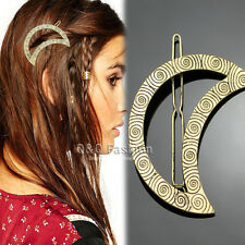 Vintage Lady Mayan Gypsy Swirl Crescent Moon Hair Pin Clip Dress Snap Barrette