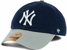 NEW YORK YANKEES MLB FITTED BP FRANCHISE NAVY BLUE/GRAY HAT/CAP '47 BRAND NWT