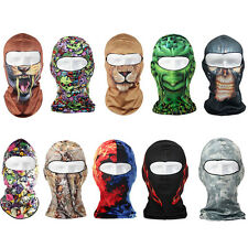Thin 3D Outdoor Motorcycle Cycling Ski Balaclava Neck Protect Full Face Mask Hat