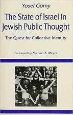 The State of Israel in Jewish Public Thought by Yosef Gorny Hardcover Book (Engl