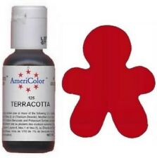 AmeriColor Terricotta Soft Gel Paste 3/4 .75 oz Icing Frosting Decorating Cookie