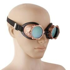 VINTAGE STEAMPUNK GOGGLES GLASSES WELDING CYBER PUNK GOTH COSPLAY FANCY DRESS