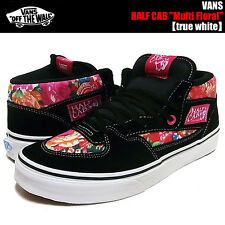 VANS SHOES HALF 1/2 CAB MULTI FLORAL WHITE Mens 4 SKATE SK8 HI WOMENS 5.5 NIB