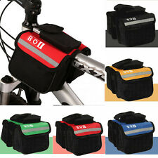 Bicycle Bike Cycling Front Frame Tube Side Saddle Pannier Double Pouch Phone Bag