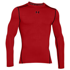 UNDER ARMOUR COLD GEAR COMPRESSION CREW MEN'S SHIRT LONG SLEEVE RED 1265650-601