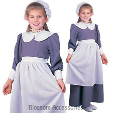 CK601 Pilgrim Girl Colonial Thanksgiving Fancy Dress Historical Pioneer Costume