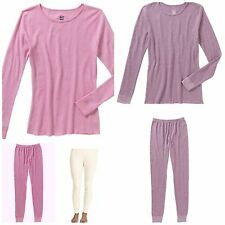 New Fruit of the Loom Women's Tight Fit Waffle Thermal Underwear Bottom or Top